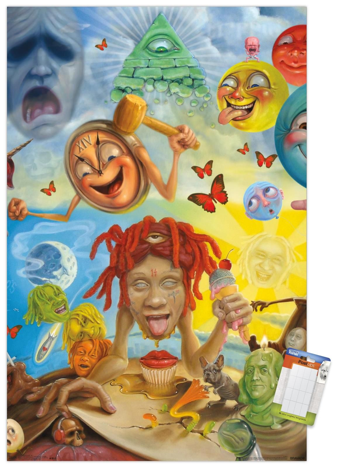 Trippie Redd Art Walmart Com In 2021 Cover Wallpaper Iphone Wallpaper Rap Album Cover Art
