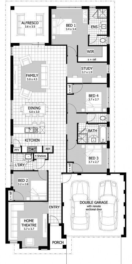 Hotham Celebration Homes New House Plans House Plans Narrow House Designs