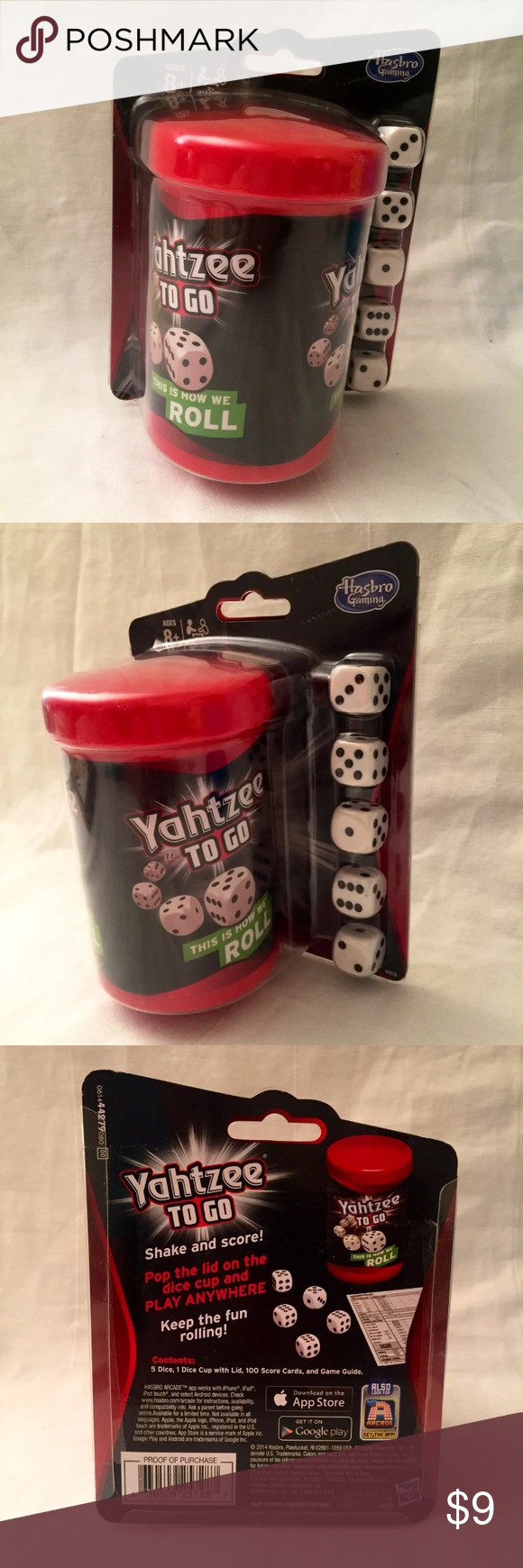 Hasbro Yahtzee to Go Travel Game NWT NWT in 2020 (With