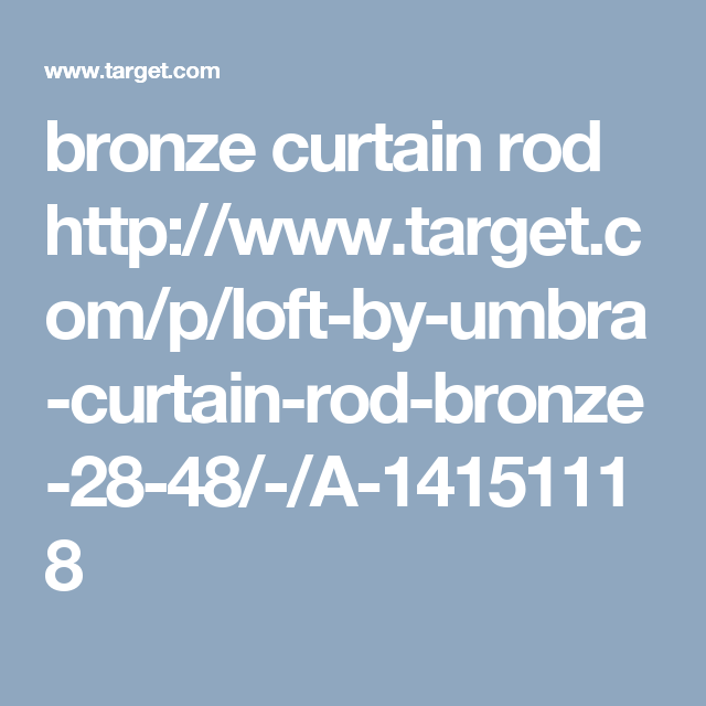 Umbra Loft By Curtain Rod - Bronze 28-48
