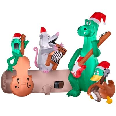 alligator band at lowes christmas inflatablesholidays - Lowes Blow Up Christmas Decorations