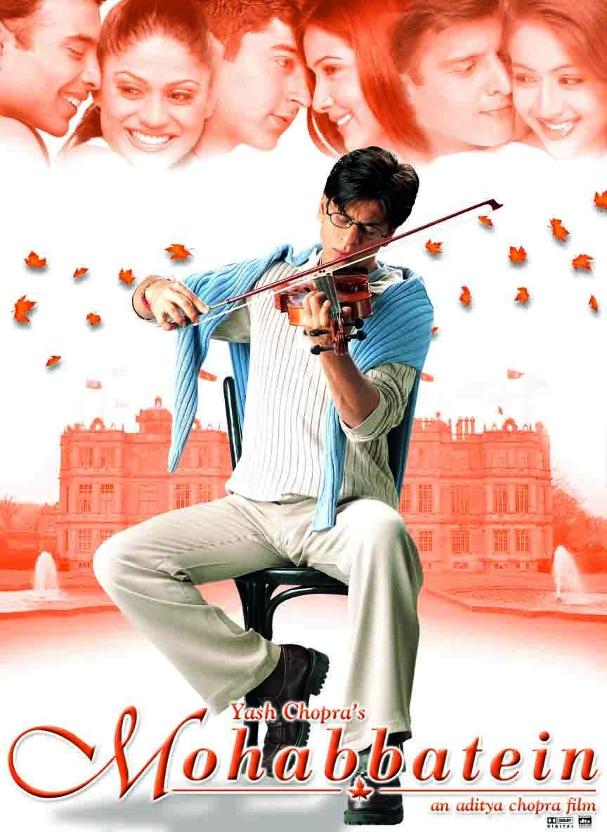 Orginal Poster from the movie, Mohabbatein (2000). Best