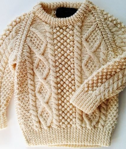 The Aran Jumper   Cable knit sweater pattern, Knitting ...
