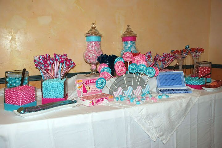 Baby1 Baby Boy Shower Candy Buffet Ideas