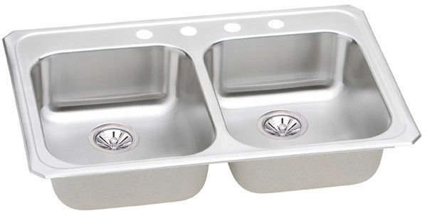 Elkay Celebrity Collection Drop In Sink Polished Finish Gecr3321mr2 Sink Double Bowl Kitchen Sink Sink Faucets