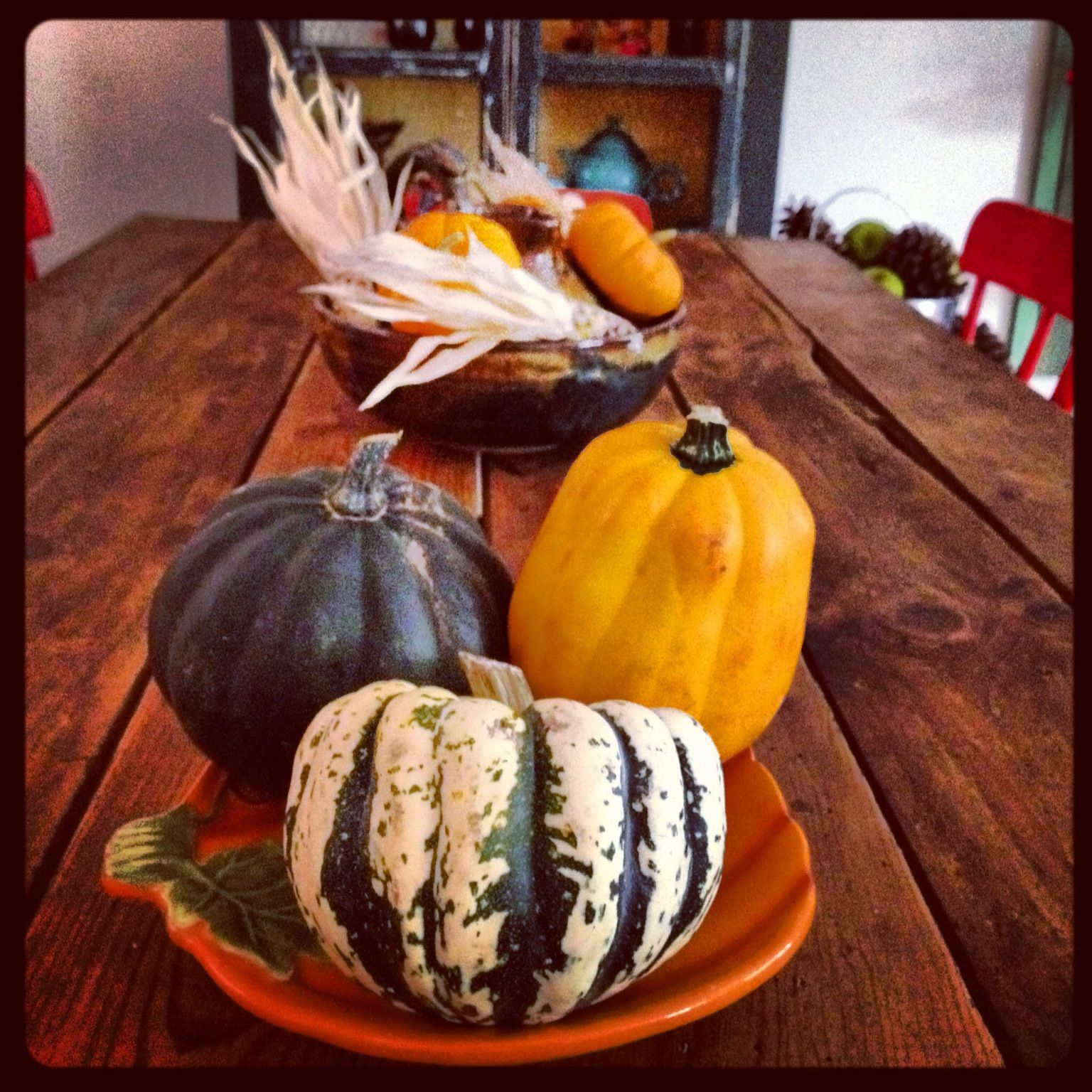 Fall farm table