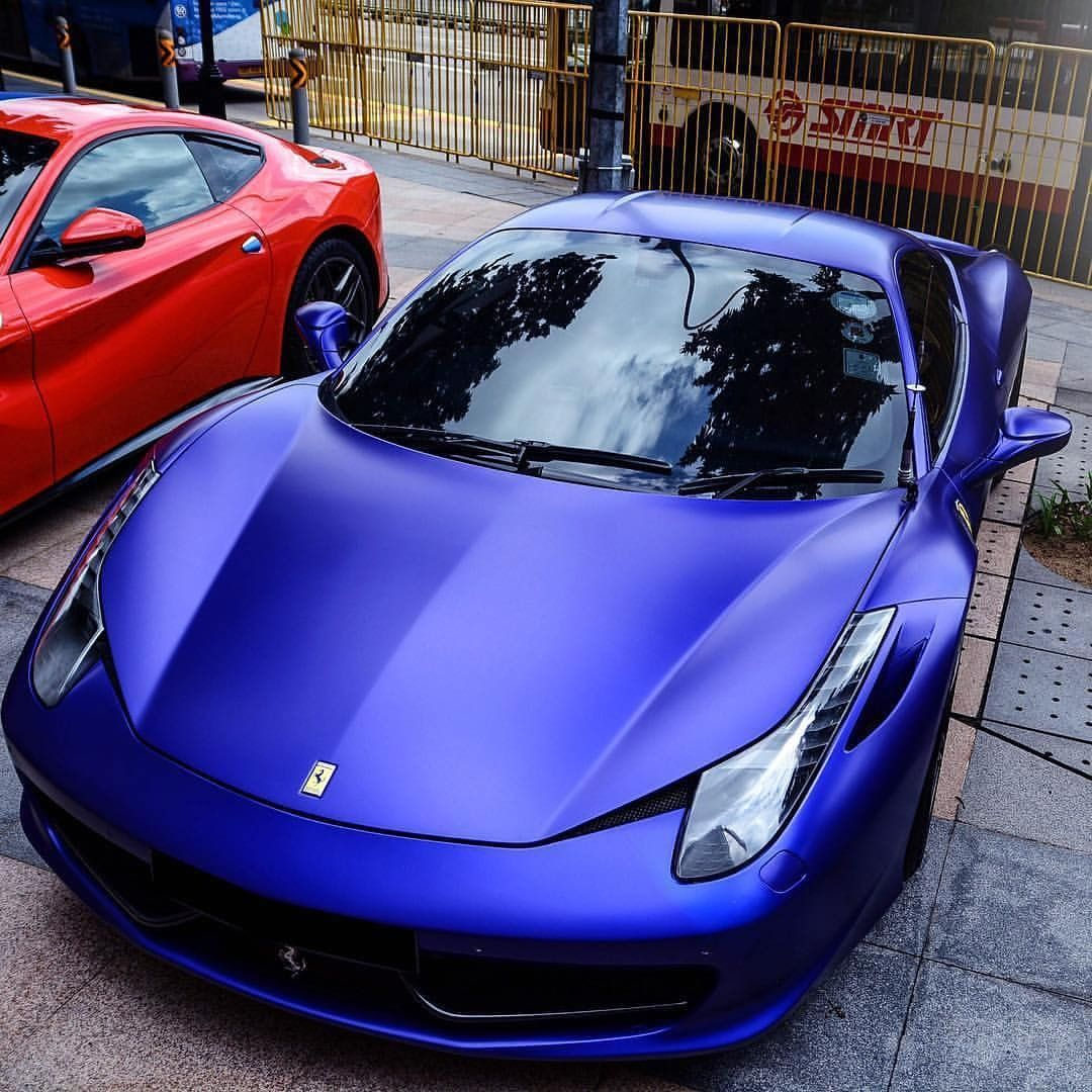 "Ferrari 458: ""Deep Blue Ferrari 458 Italia! Poseidon's Stallion Would"