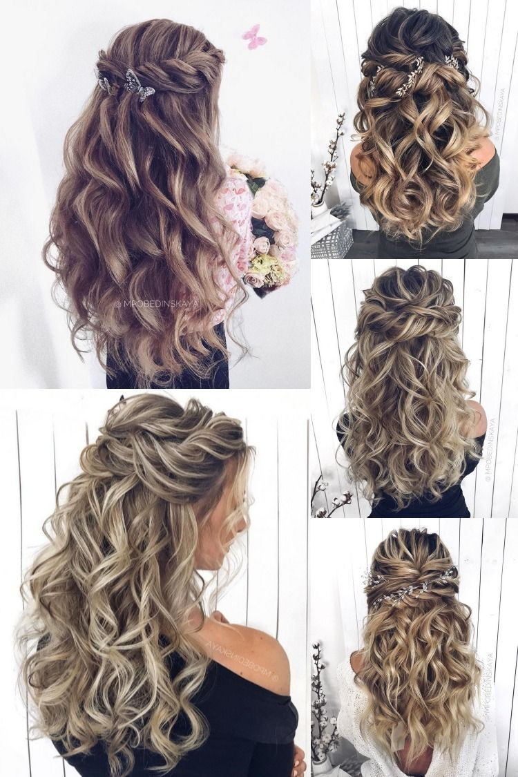20 Long Wedding Hairstyles And Updos From Mpobedinskaya Wedding Hair Half Wedding Hairstyles For Long Hair Wedding Hair Down