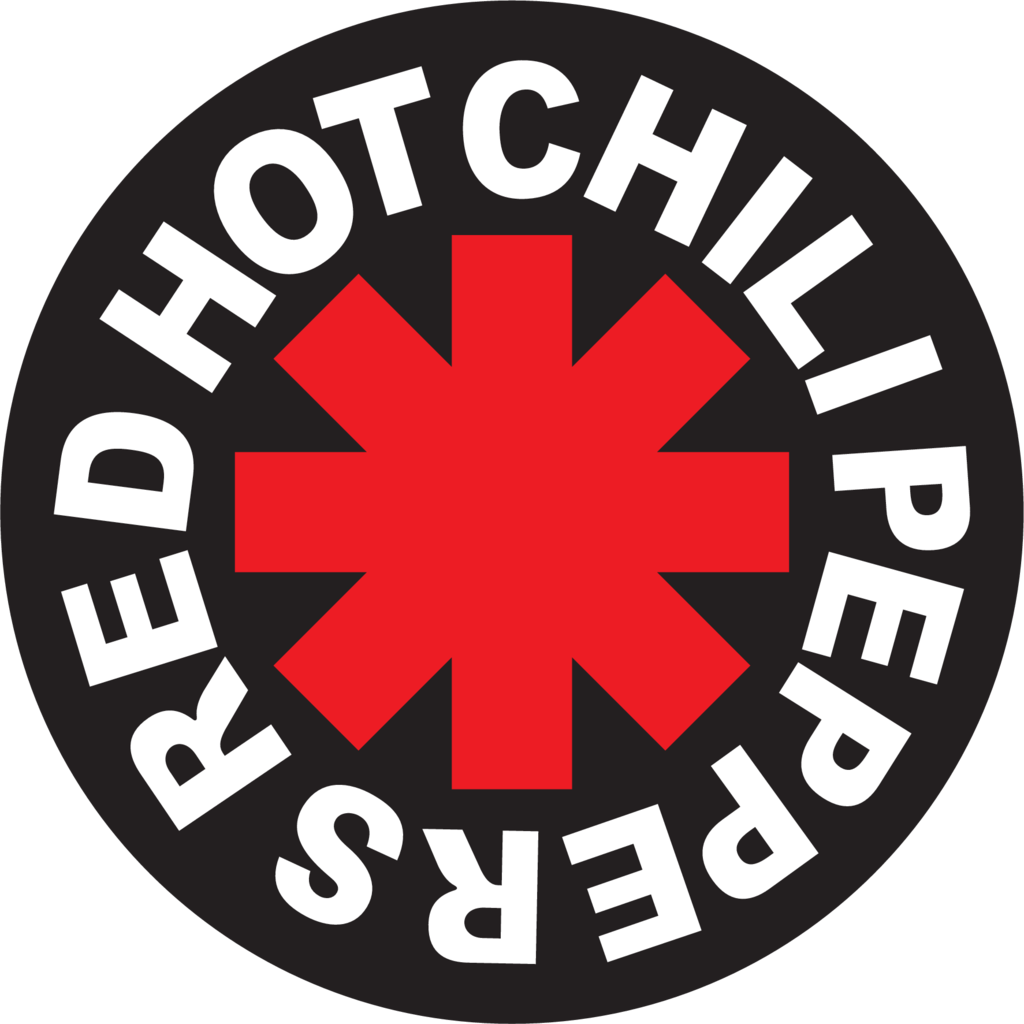 """Red Hot Chili Peppers USA Concert Music Decal Sticker 4 Pack of 4/"""""""