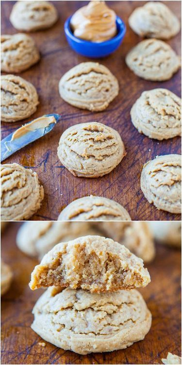 These peanut butter cookies are so soft and chewy! I love this recipe. :)