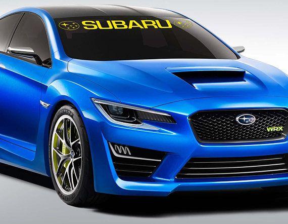 SUBARU WRX Car Vinyl Sticker Bumper Windshield Banner JDM Decal Graphic  Sport