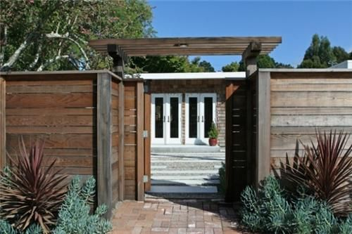 Mid Century Modern Arbor Entrance | Gates And FencingShades Of Green  Landscape ArchitectureSausalito, CA