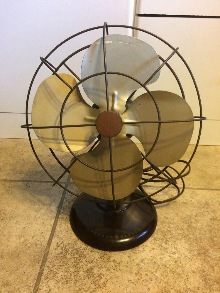 Ge 10 Oscillating Fan Model Fm10s41 Ebay Oscillating Fans Vintage Fans Fan