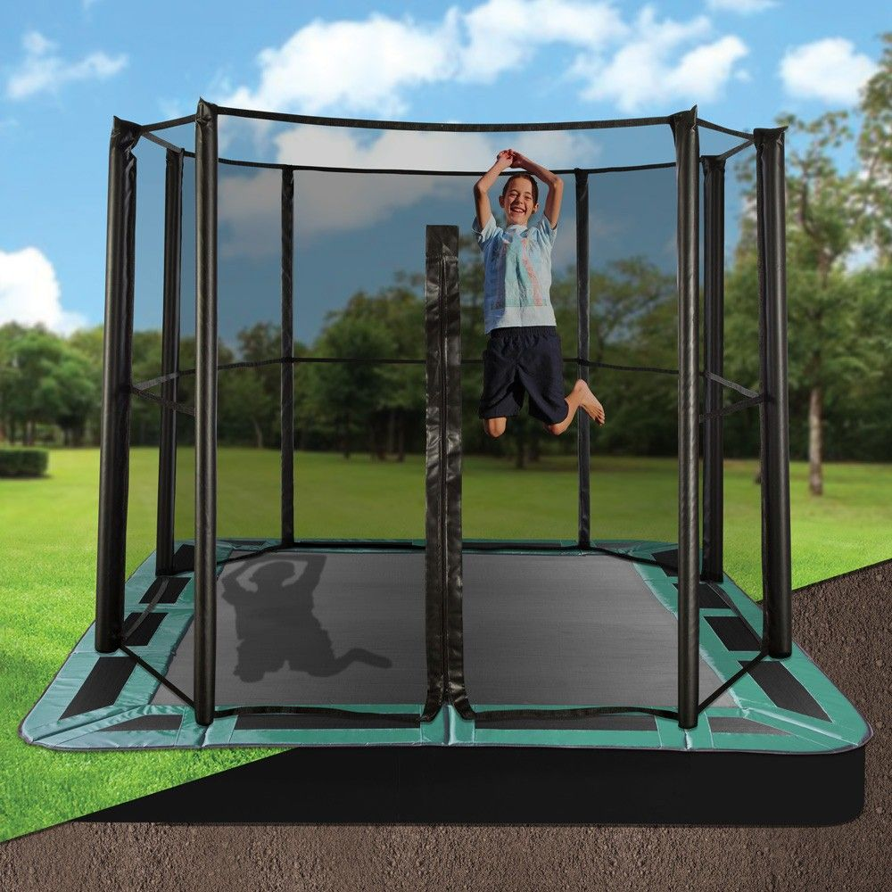 10 x 14 rectangle inground trampolines inground trampoline