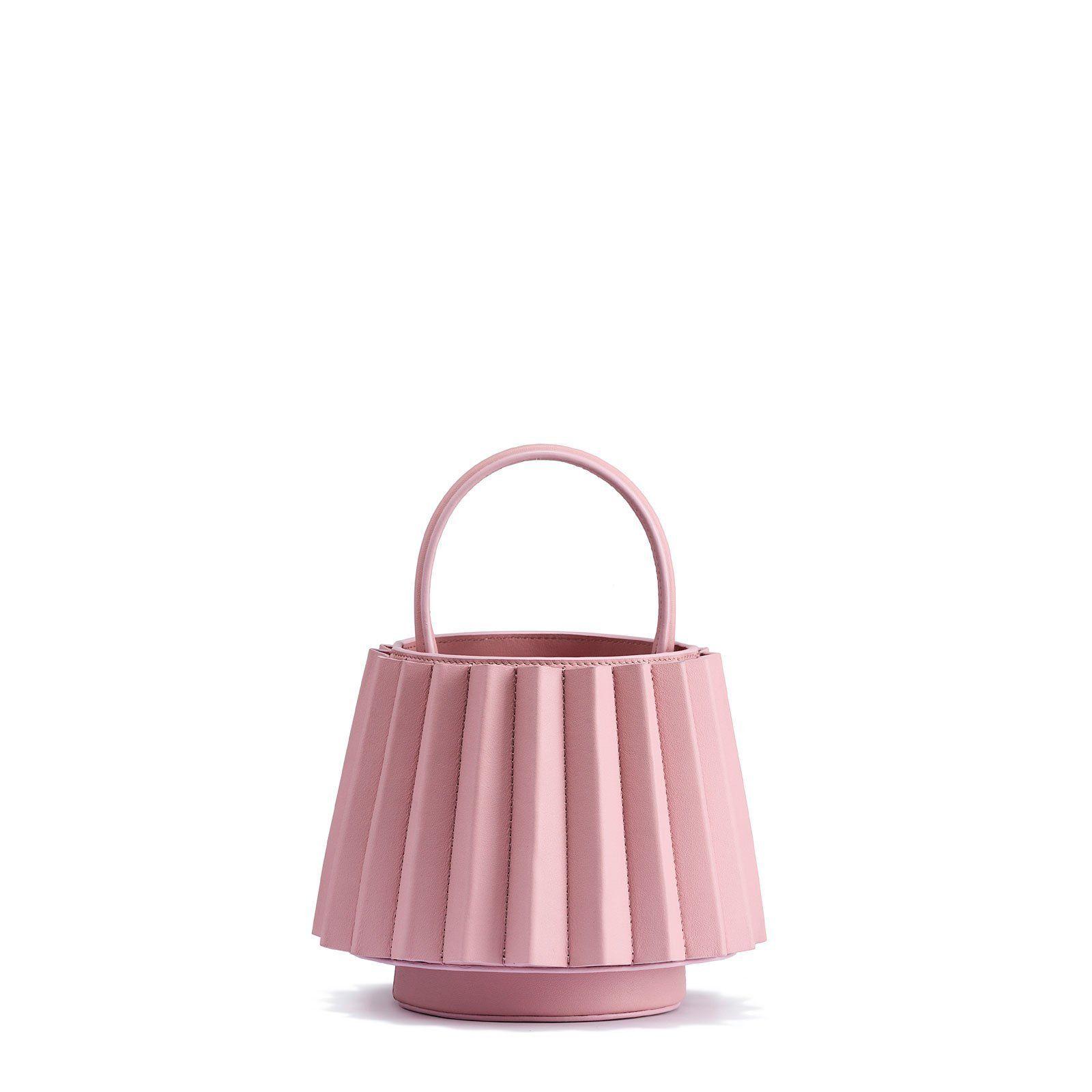 Mlouye Mini Lantern Bag Pleated - Pink Cloud  ec83000e99aa1
