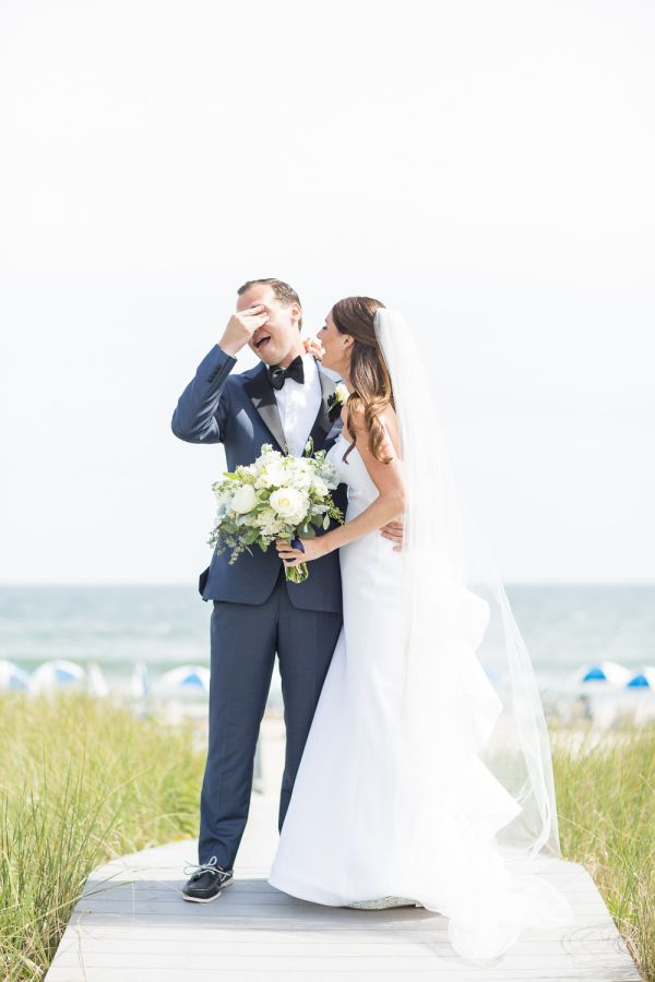 Wedding Dress Elegant Black Tie Hamptons Beach