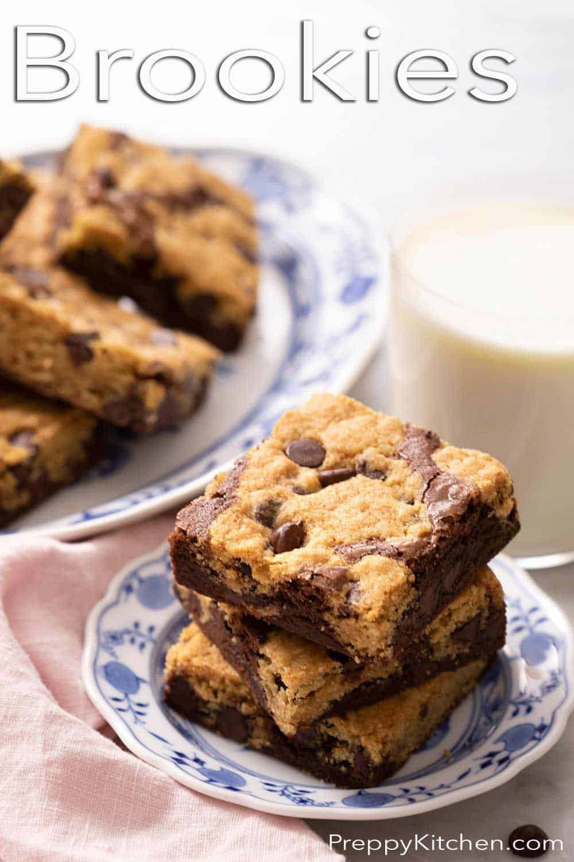 Brookies Preppy Kitchen In 2021 Brookies Chocolate Chip Cookies Scrumptious Desserts
