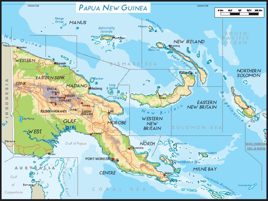 The Papua New Guinea of islands Oceania Pinterest - new world map fiji country