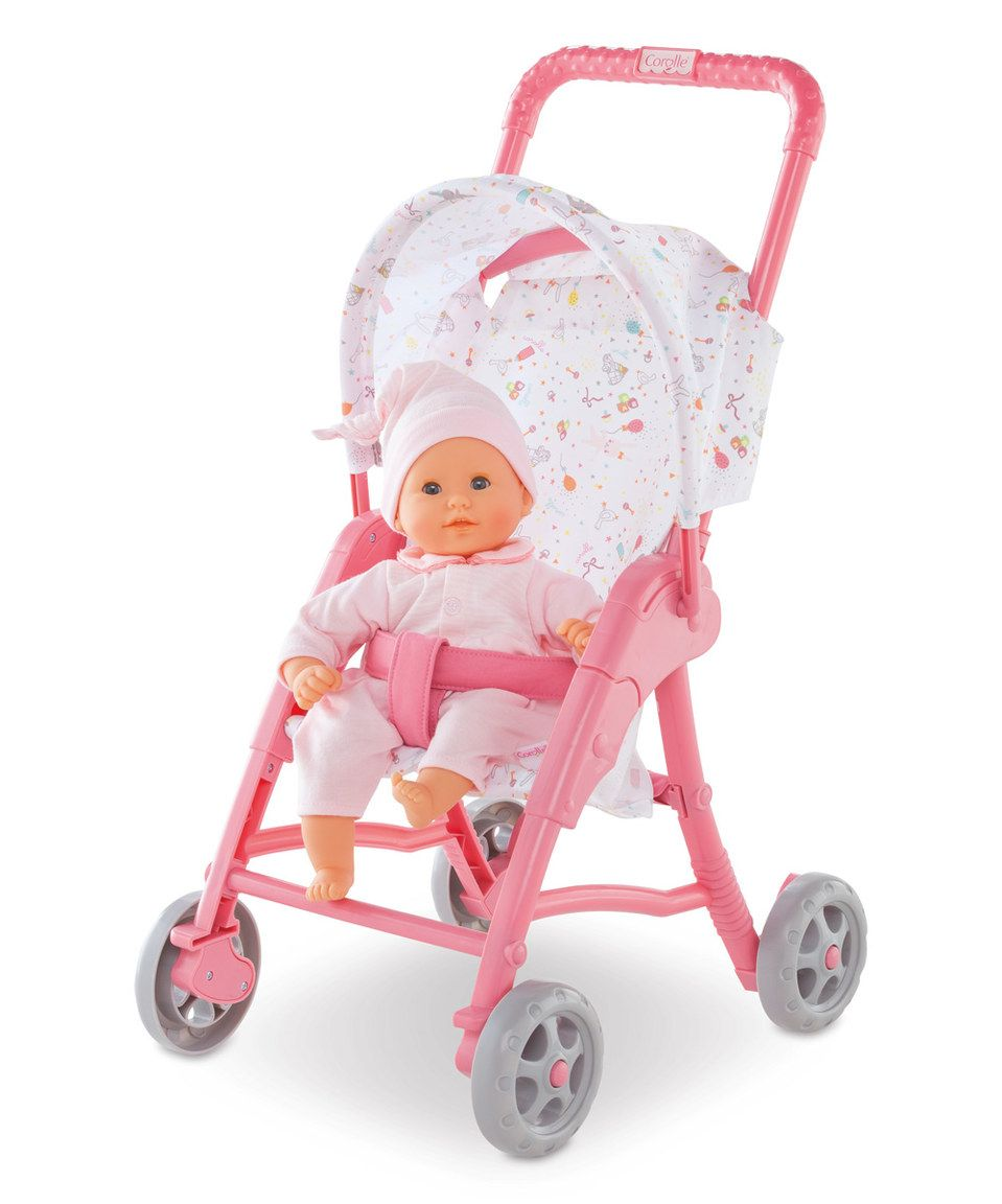 This Pink 12'' Doll Stroller by Corolle is perfect!