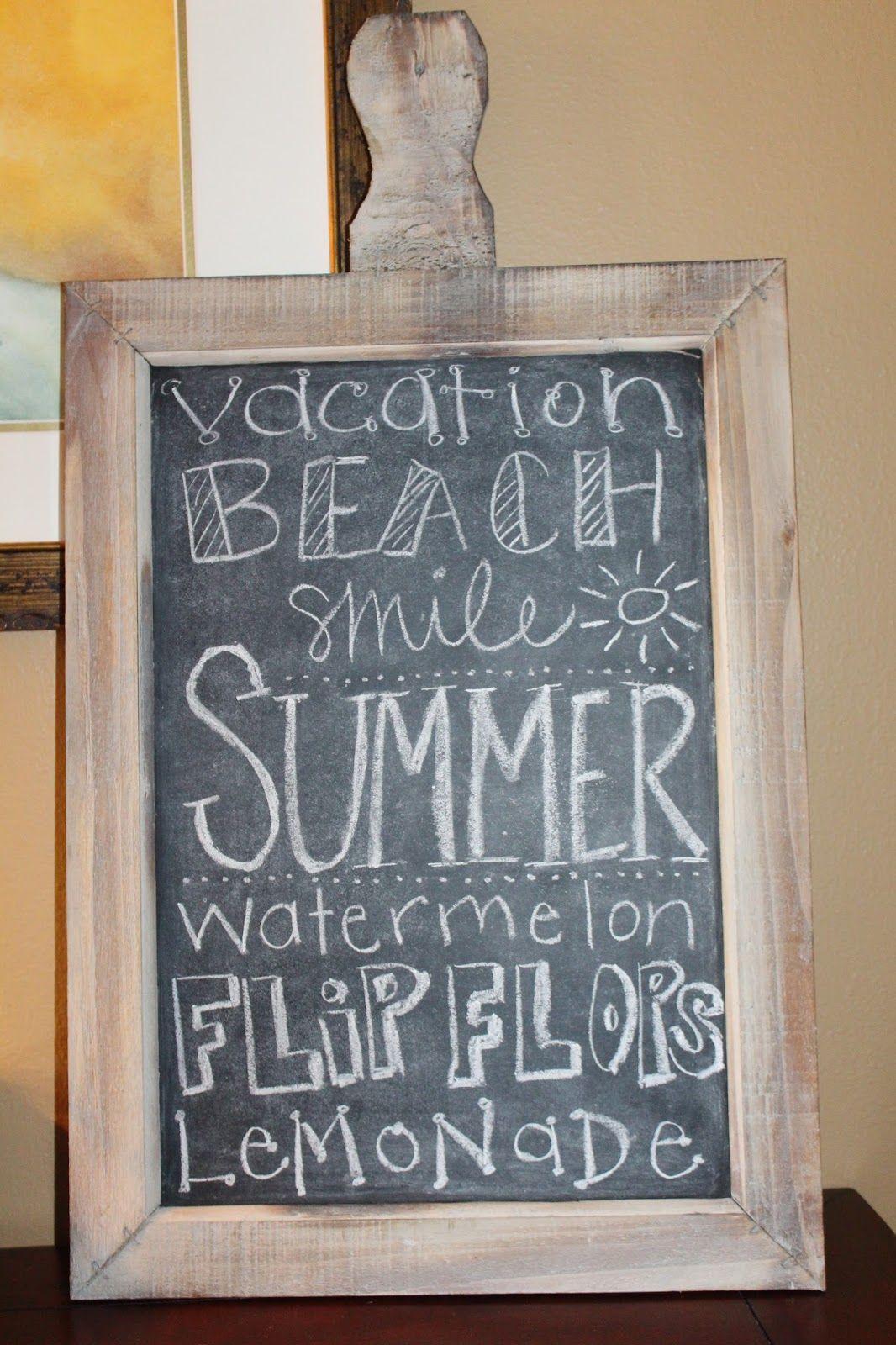 summer chalkboard art google search