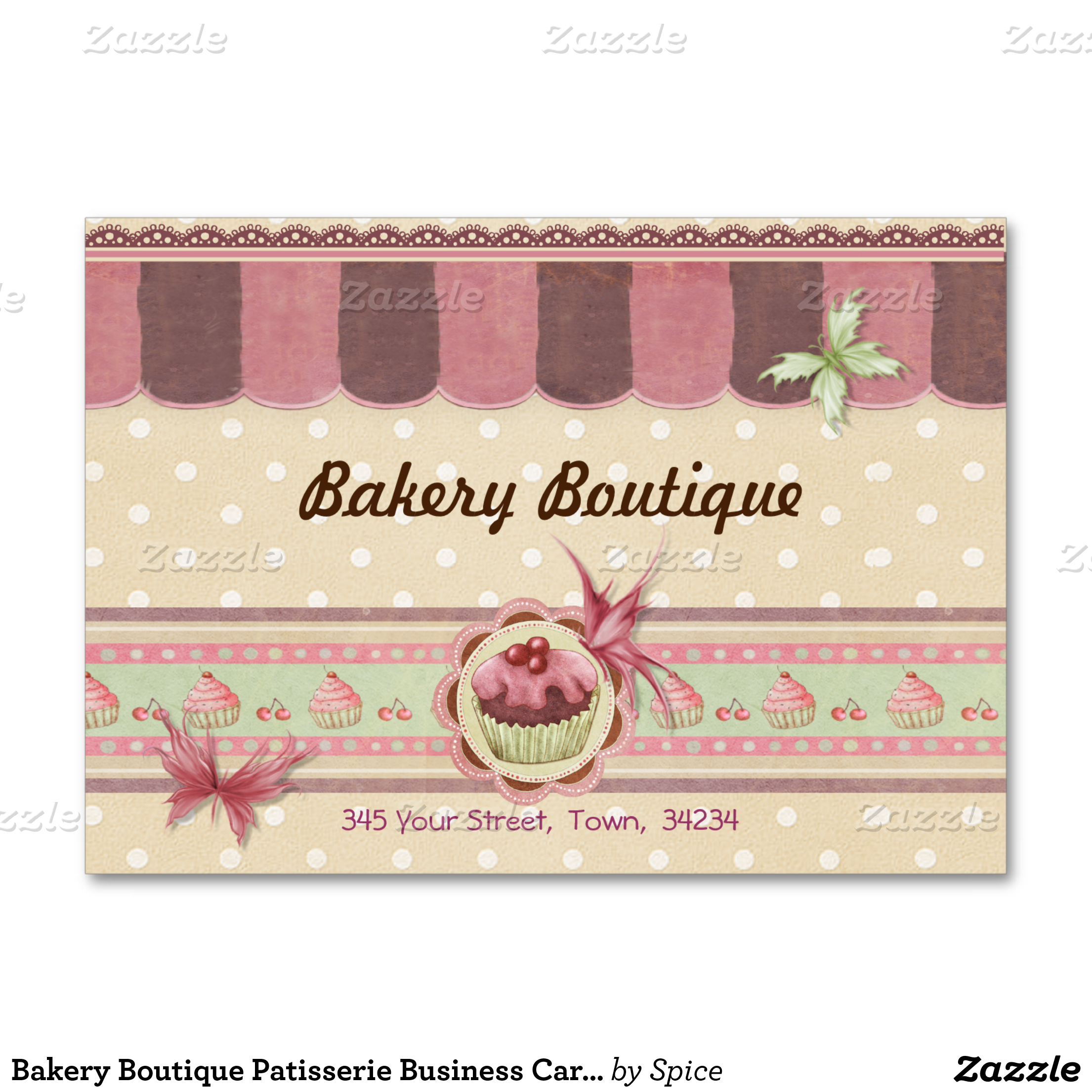 Bakery Boutique Patisserie Business Card 3