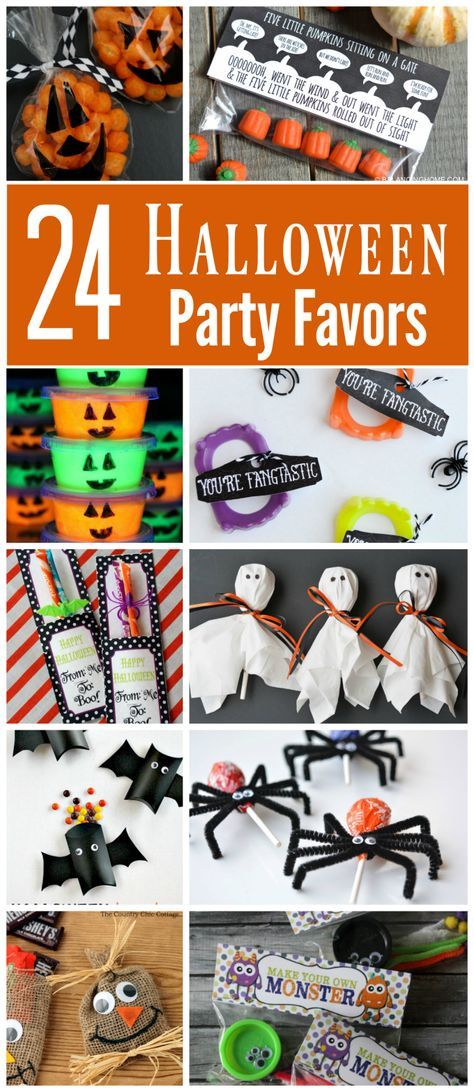 24 Creative Halloween Party Favors   Candy favors, Halloween ...