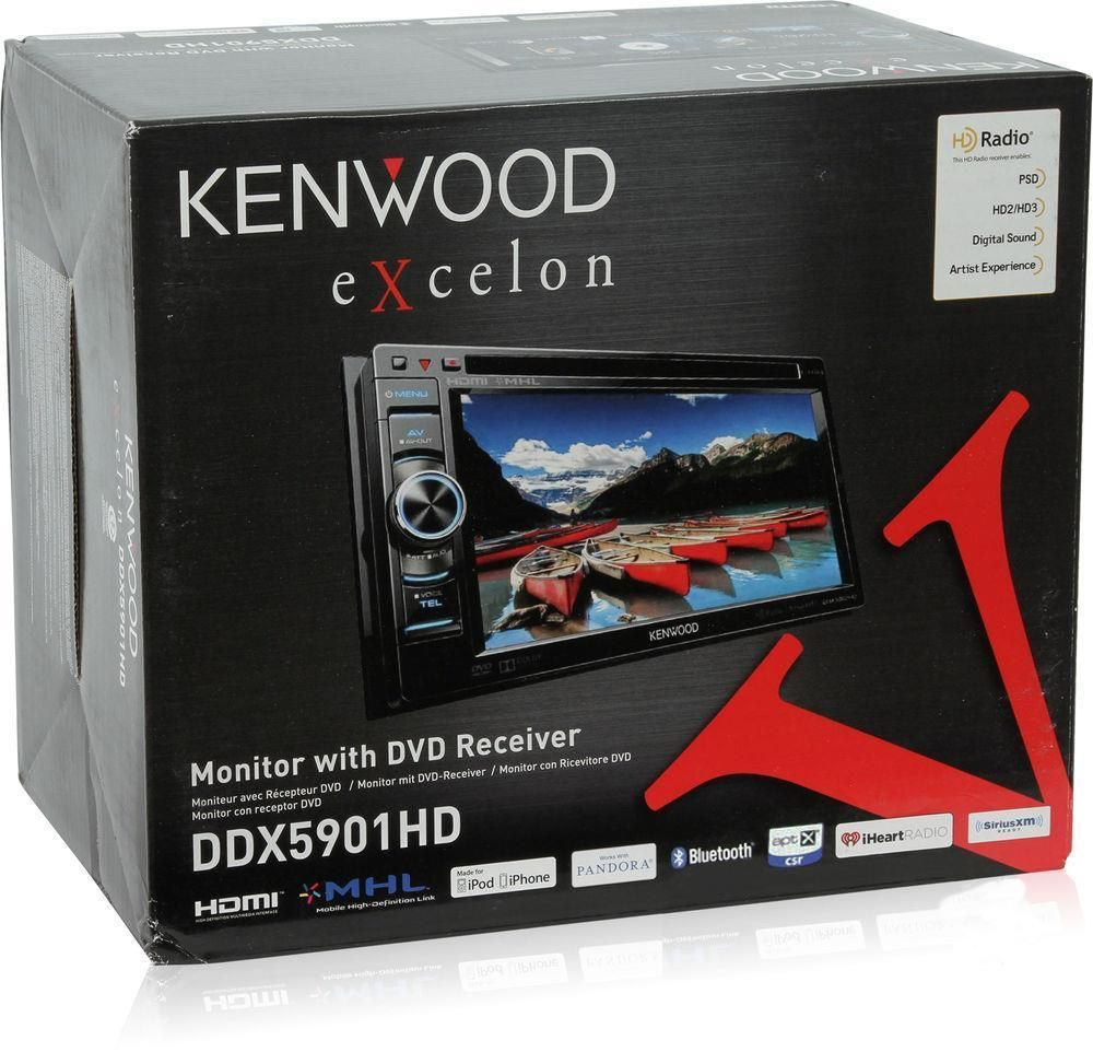 "Kenwood DDX5901HD 2-DIN Bluetooth In-Dash DVD Receiver 6.1"" Touchscreen HD Radio #Kenwood"