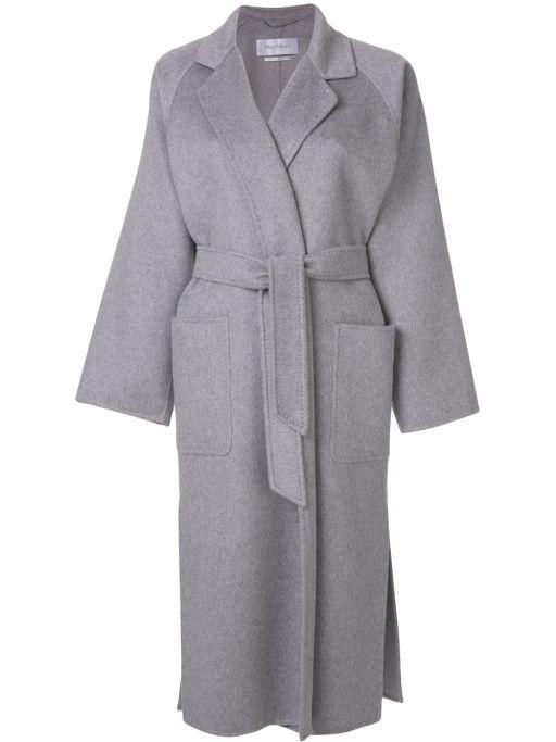 Maxmara Langer Mantel Gurtel Kaschmir 100 Kaschmir Fashion Winter Grey Coat Exclusive Leoniexclusive Mantel Mit Gurtel Langer Mantel Tuch