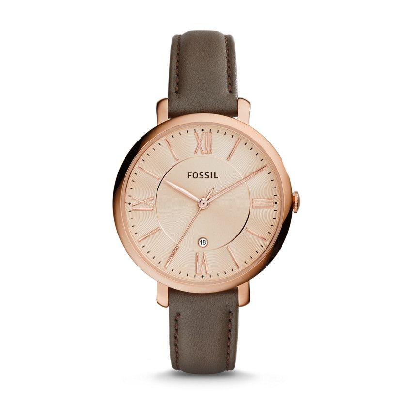 Fossil damen armbanduhr analog quarz edelstahl beschichtet es3435