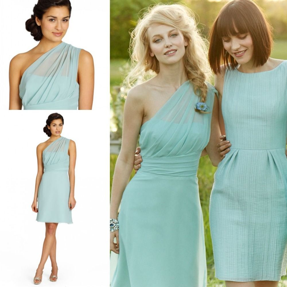 Charming Bridesmaid Dress,One-Shoul | Mint green bridesmaid ...