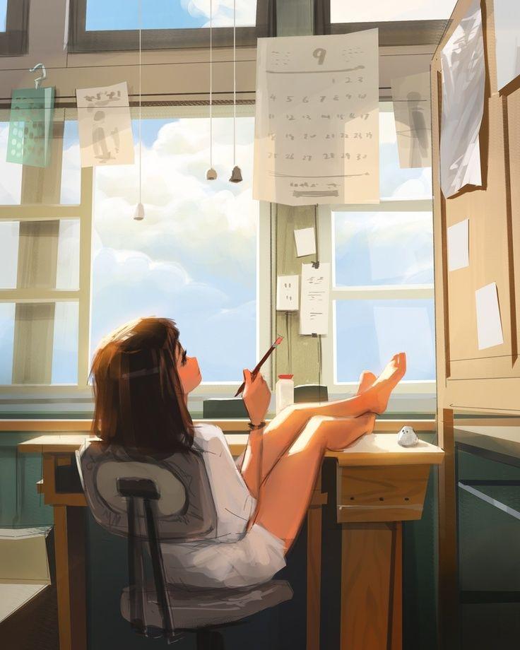 Daydreaming, an art print by Sam Yang
