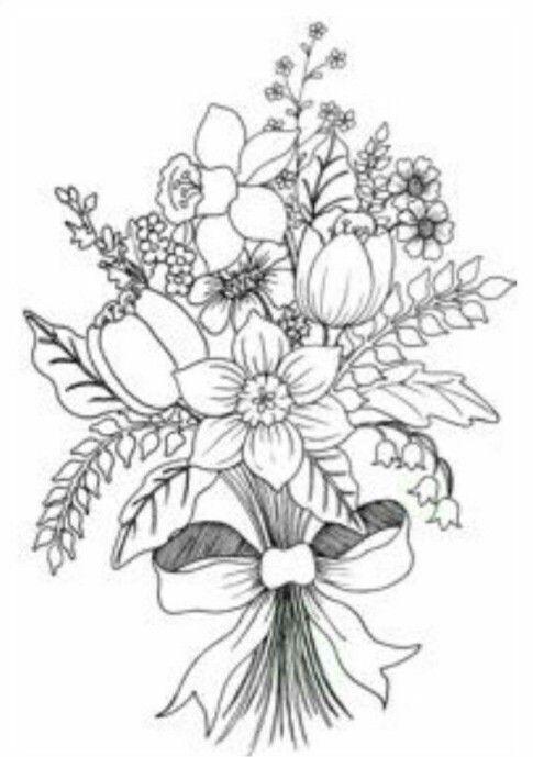 Pintar   mym   Pinterest   Pintar, Bordado y Dibujo floral