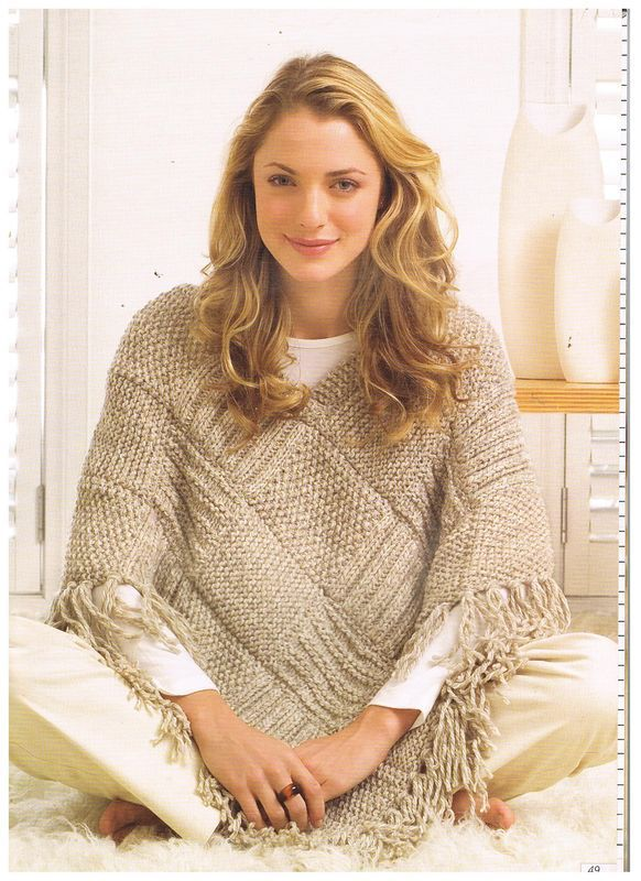 Poncho Design With Cone Cowl Neck Shape Designers Outfits
