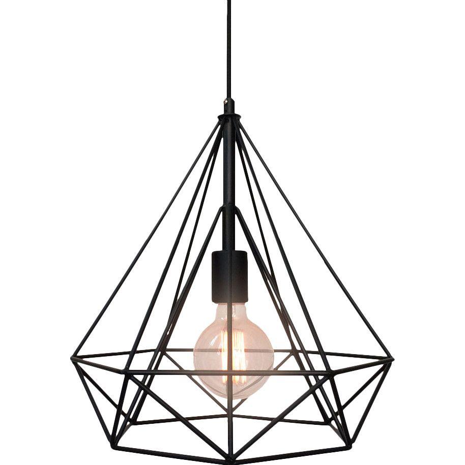 Salerno 1 Light Single Geometric Pendant Cage Pendant Light Pendant Light Industrial Pendant Lamps