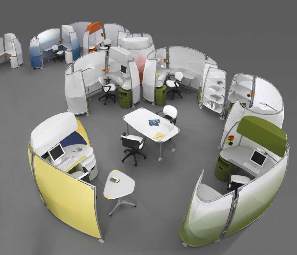 office workspace futuristic oval office cubicle design ideas with colorful nuance small