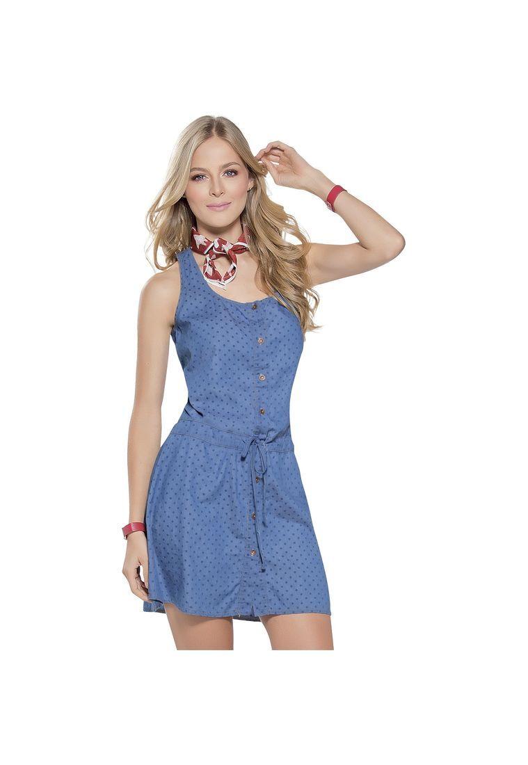c8a0ef0b599 Vestido Juvenil para Mujer Azul Marketing Personal 54600 - Compra Ahora