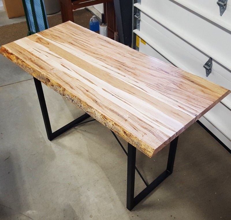 Wormy Maple Live Edge Dining Table Custom Built For A Customer
