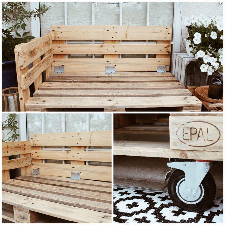 DIY Möbel aus Paletten selber machen - Balkonmöbel selber bauen