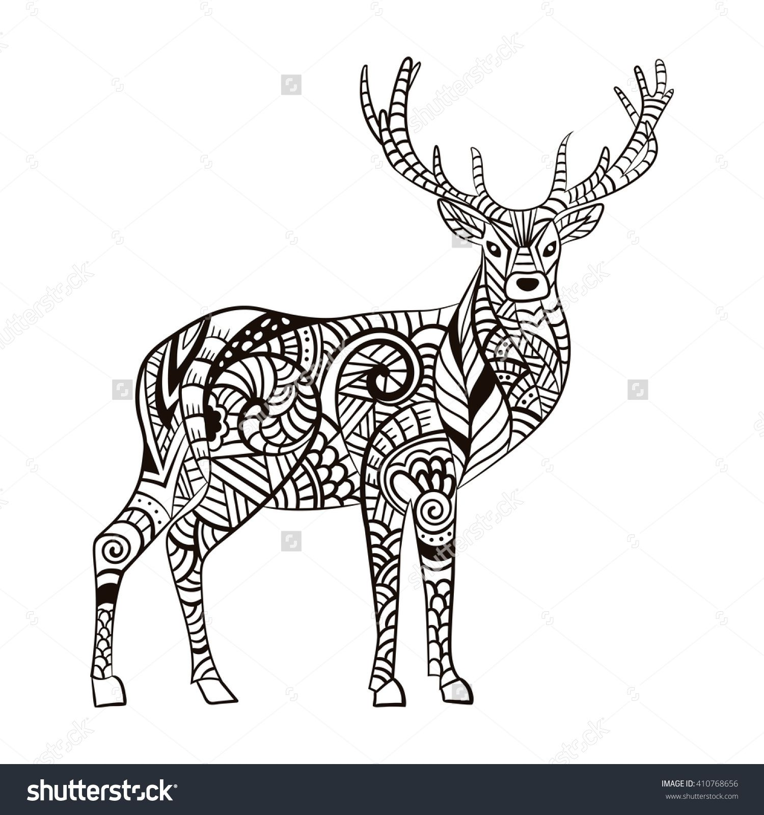 Pin by Barbara on coloring deer Pinterest