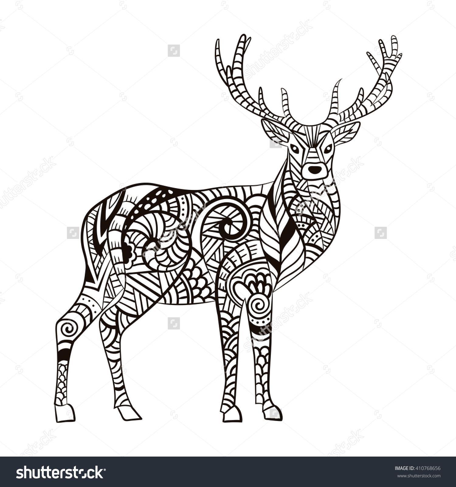 Pin By Barbara On Coloring Deer