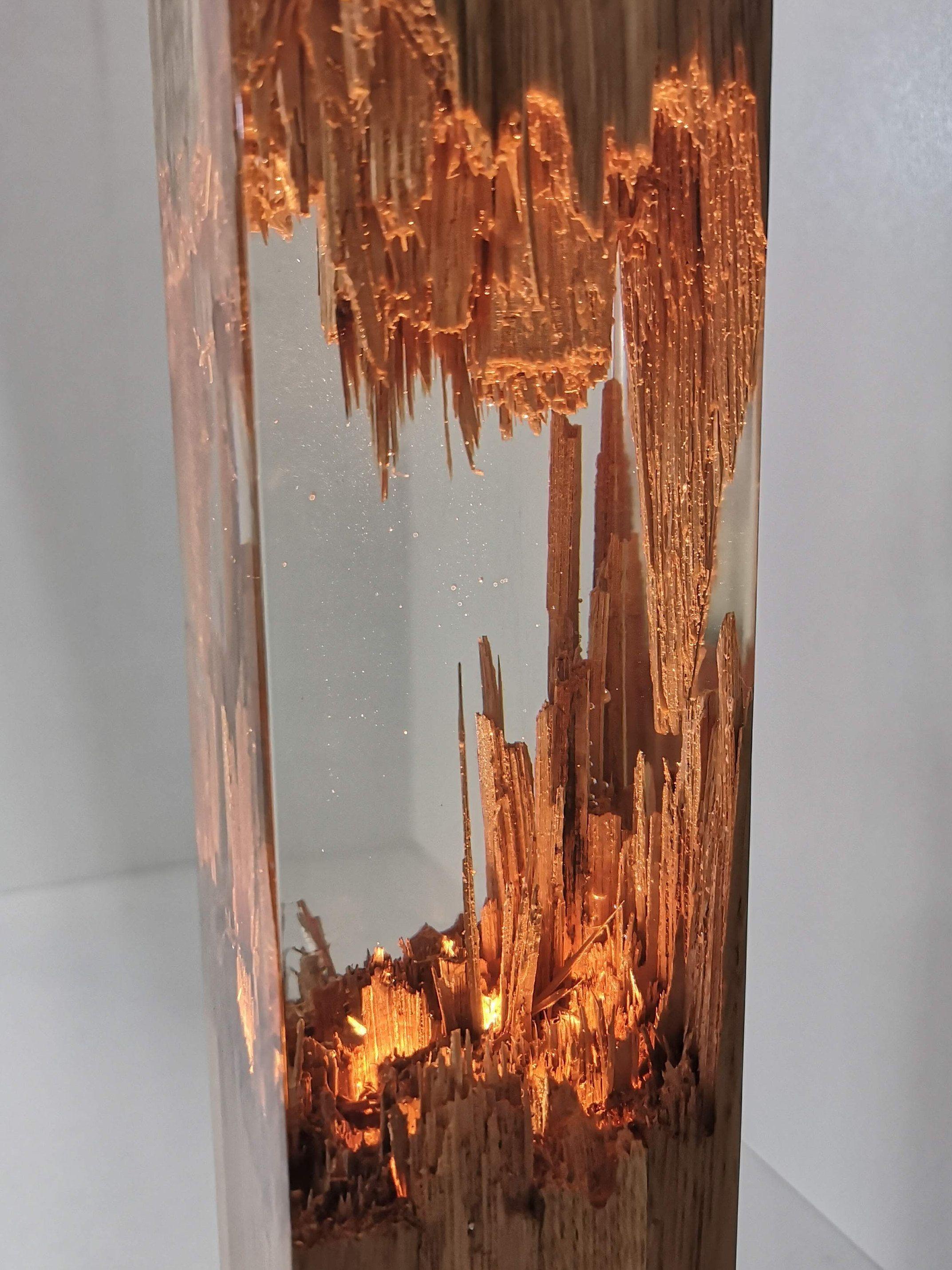 Epoxy Wood Lamp Lamp Night Lamp Resin Table Decor Decor Light Epoxy Resin Wood Resin Table Wood Lamp Design