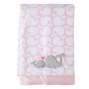 Just One You Made by Carter's�  Girl 2 Ply Blanket satin trim