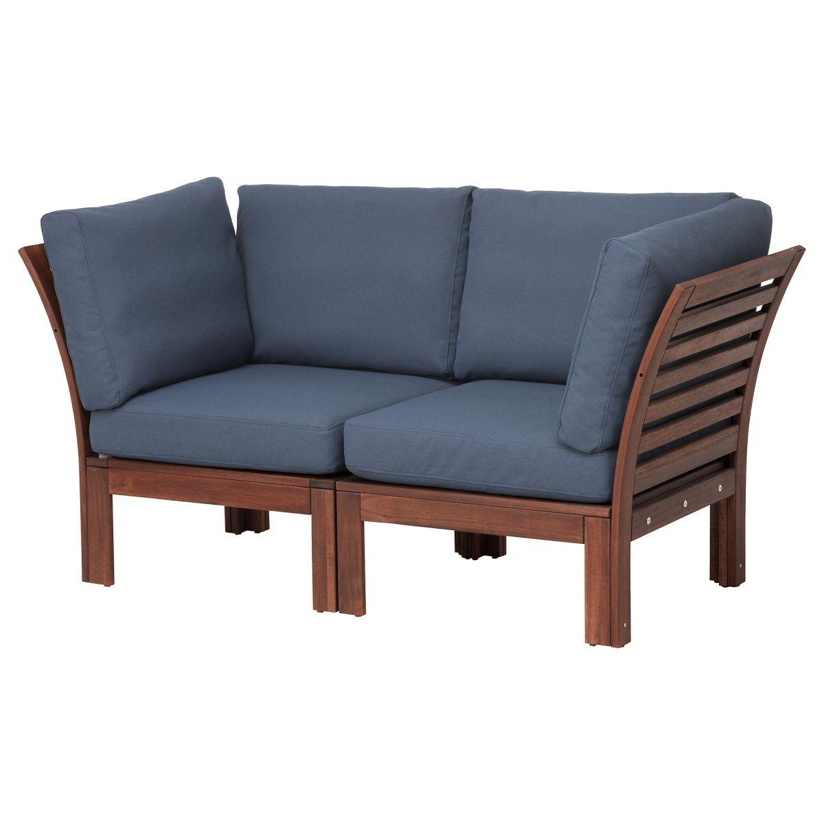 ÄPPLARÖ, 2er-Sofa/außen, braun las., blau Jetzt bestellen ...
