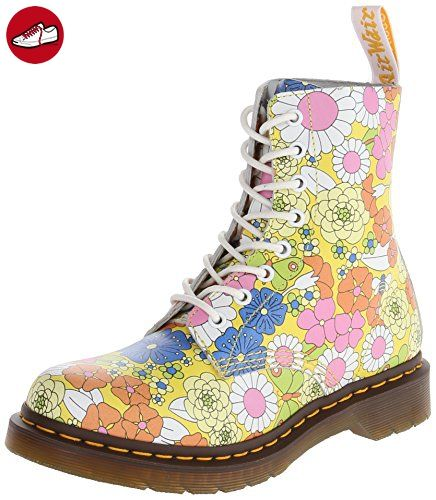 Dr. Martens PASCAL Vintage Daisy YELLOW, Damen Stiefel, Gelb (Yellow),