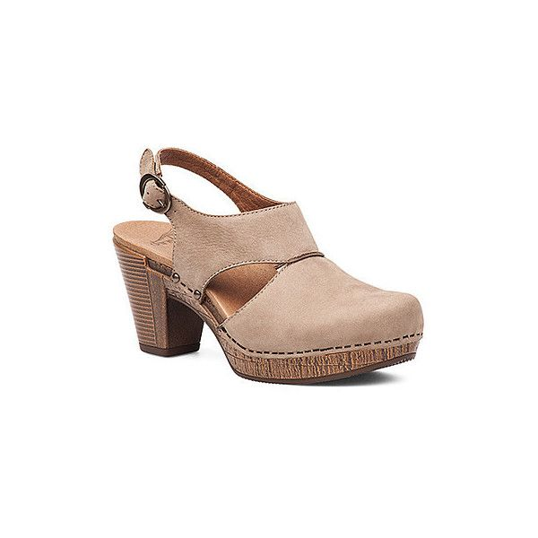 d58f124ab2a85 Dansko Women's Riley Clogs & Mules (212 CAD) ❤ liked on Polyvore featuring  shoes, taupe milled nubuck, closed toe shoes, mules clogs, high heel clogs  mules ...