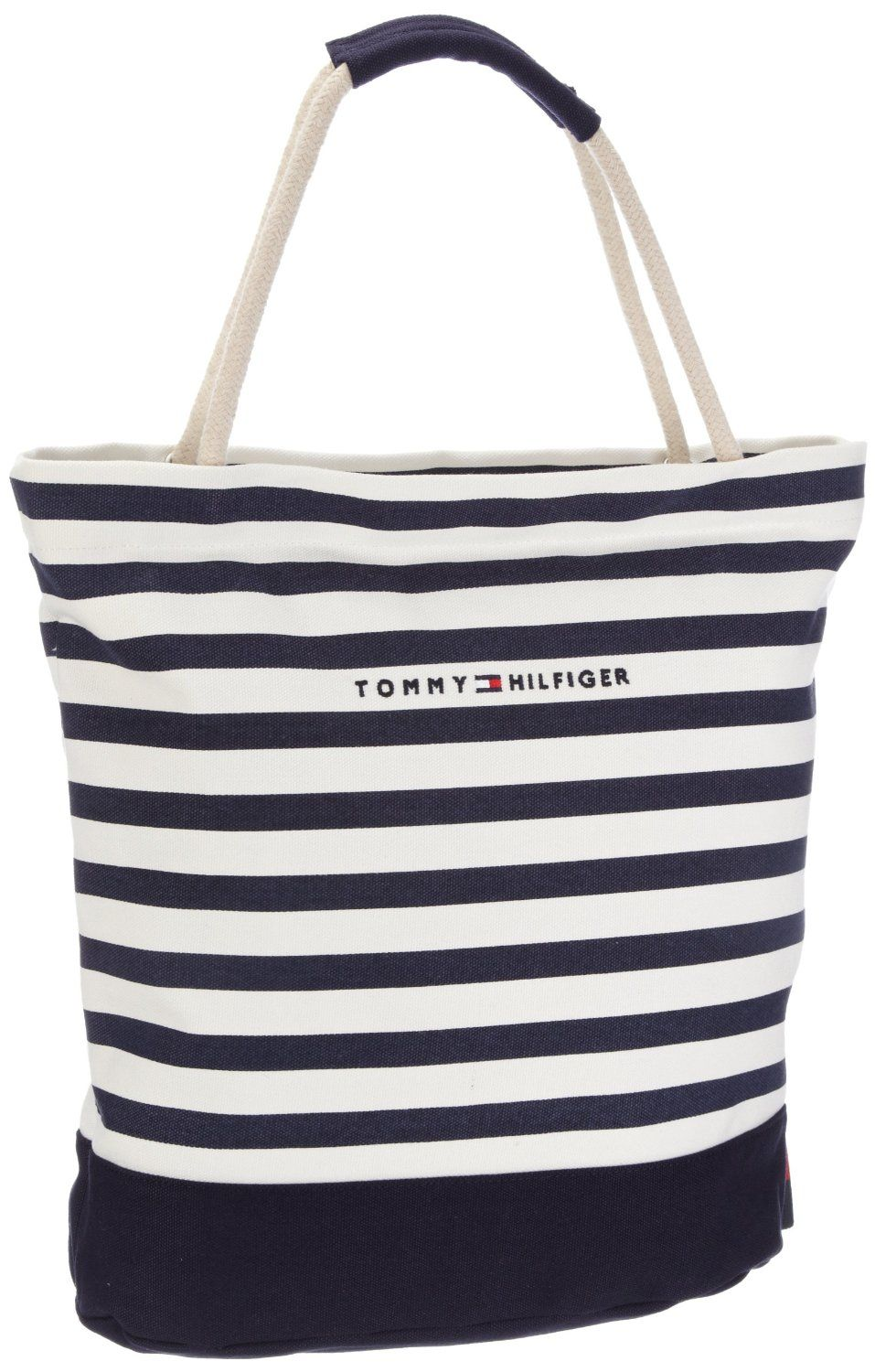 49da98baf04 Tommy Hilfiger Women s Sailor I Small Rope Tote Canvas Beach Bag   Amazon.co.uk  Shoes   Accessories