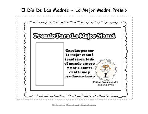 Certificado para Colorear - Día de las Madres - Certificado - Tú ...
