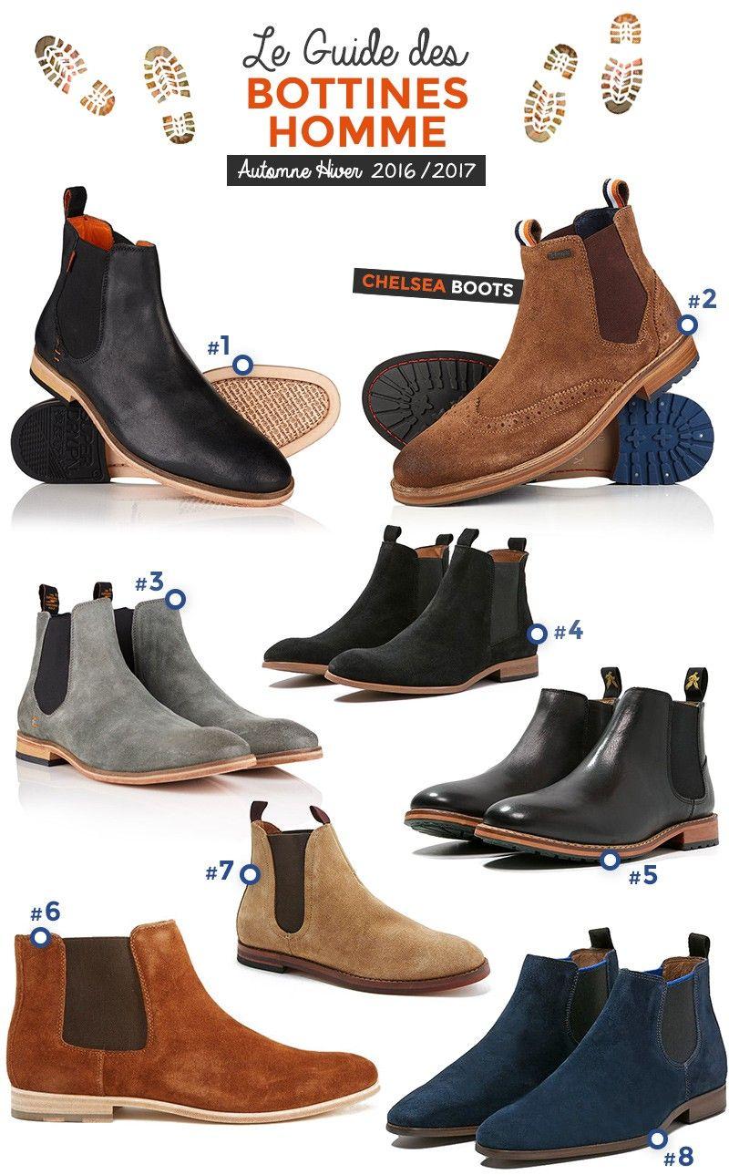 61ef2312f02 Sélection de Bottines Homme - Chelsea Boots les stars de la rentrée dans  les chaussures Homme - Automne Hiver 2016 2017