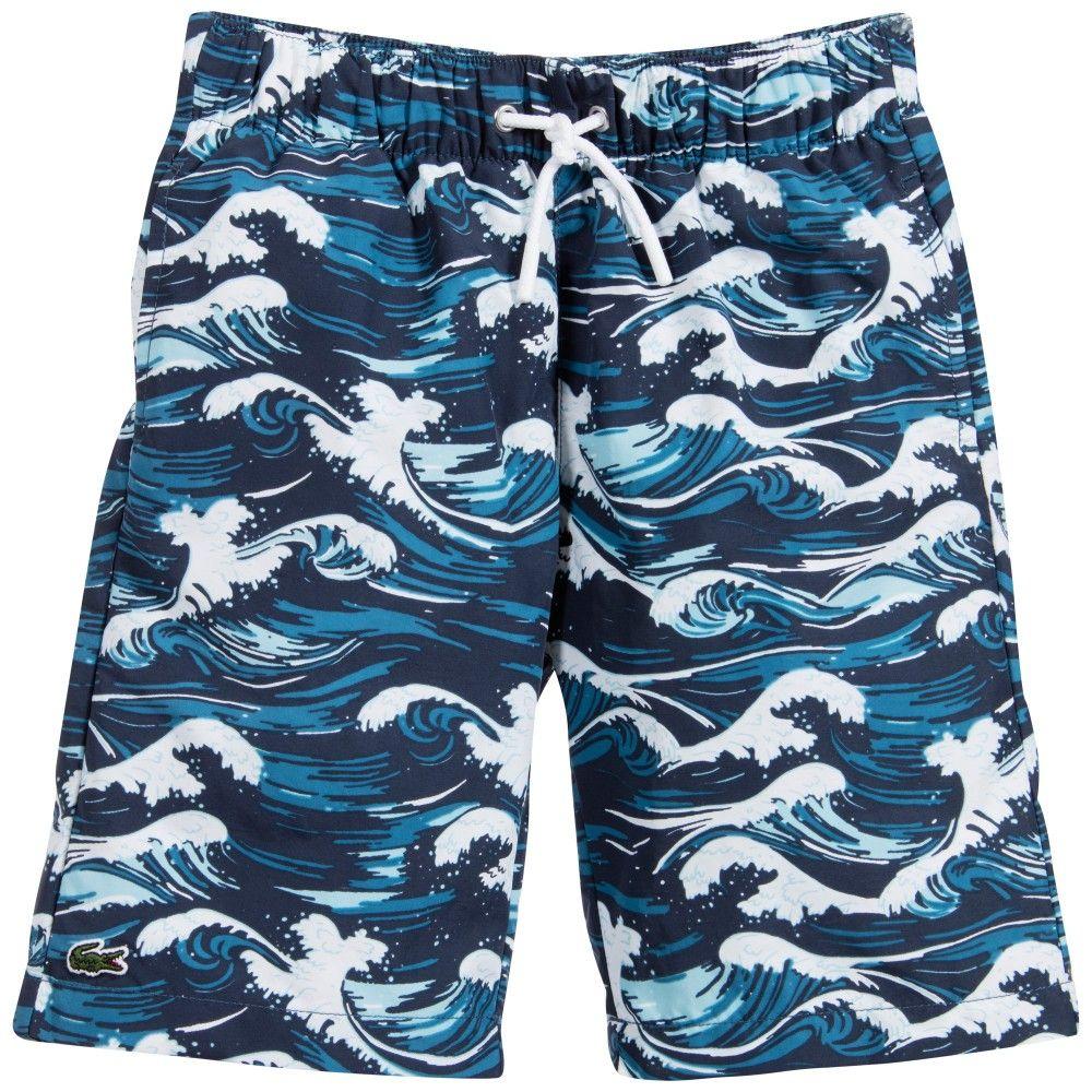 aeb1abe029 Swim Trunks by Lacoste 4-16 yrs | Boys Beachwear | Swim shorts, Boy ...