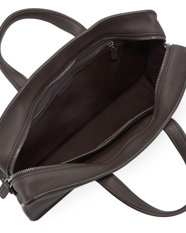 Giorgio Armani Men s Tumbled Calf Leather Briefcase Armani Men ed3b0035bc9e5